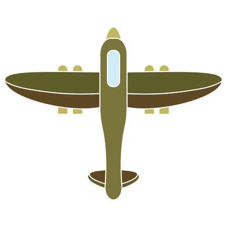 Isolated airplane soldier gun war icon