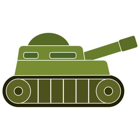 Isolated tank soldier gun war icon Иллюстрация