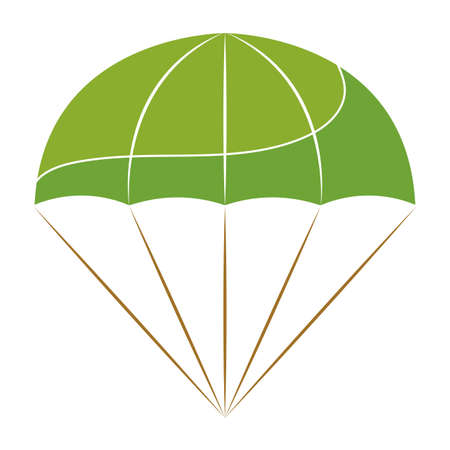 Isolated parachute soldier gun war icon