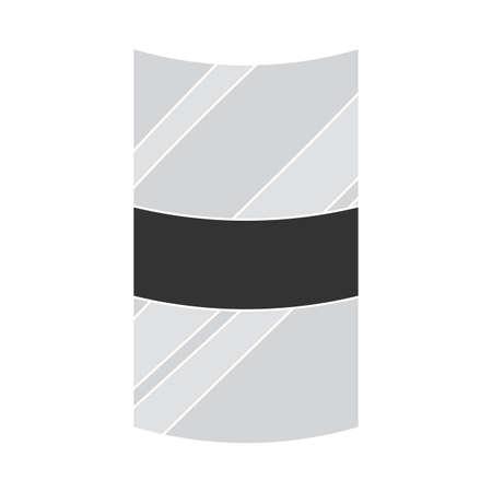 Isolated shield soldier gun war icon