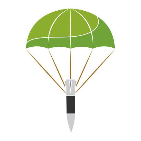 Isolated down bomb gun war icon