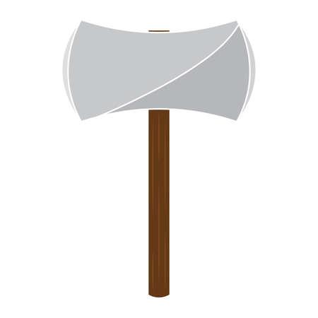 Isolated ax medieval gun war icon