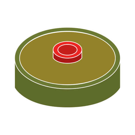 Isolated security soldier gun war icon