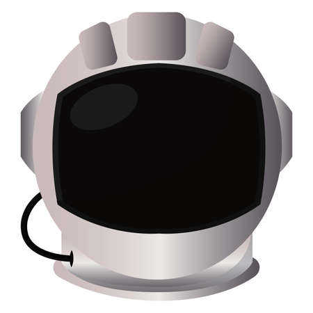 Isolated Astronaut helmet road to sapace icon - Vector