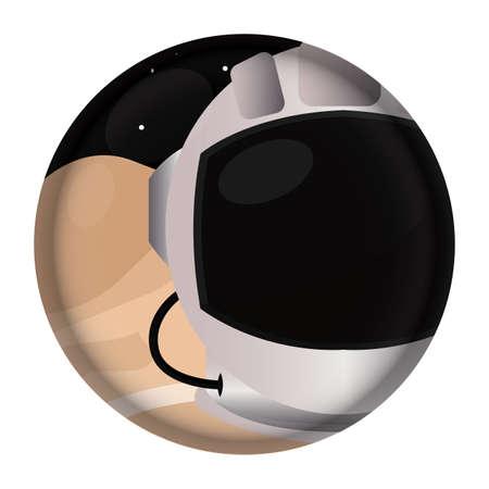 Isolated Astronaut helmet space icon - Vector Ilustracja