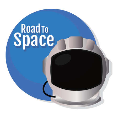 Isolated Astronaut helmet space road to space icon - Vector  イラスト・ベクター素材