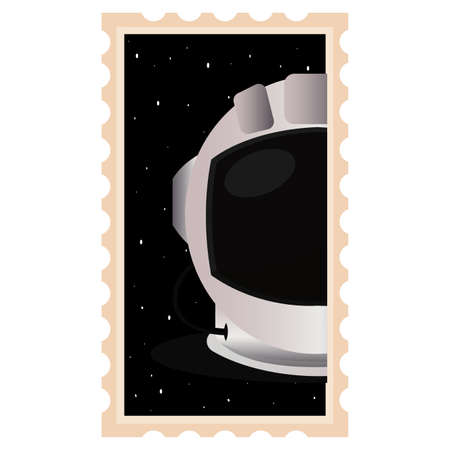 Isolated Astronaut helmet space picture icon - Vector  イラスト・ベクター素材