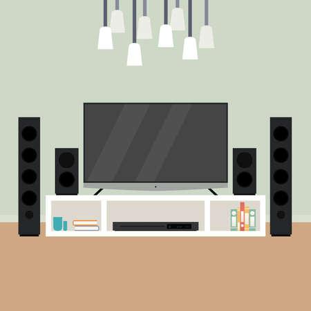Home theater image. home entertainment - Vector illustration Ilustracja
