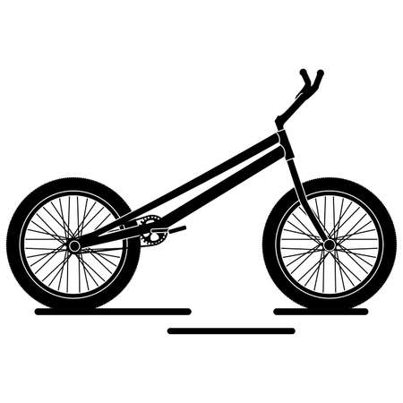 Isolated urban bike black and white in white background icon- Vector