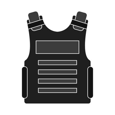 Isolated waiscoat soldier gun war icon- Vector