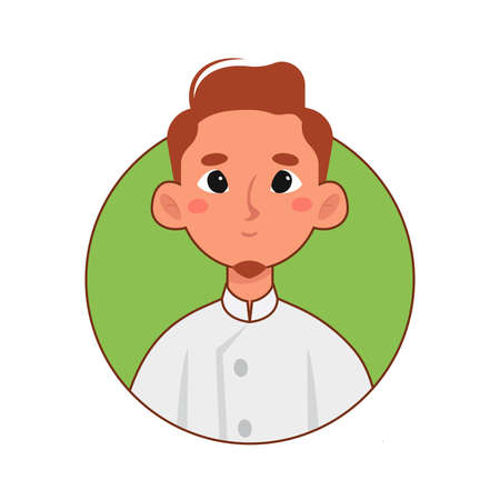 Isolated chef woman professions jobs icon logo- Vector