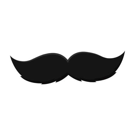 Isolated hipster mustache icon Fatehr day Vector illustration