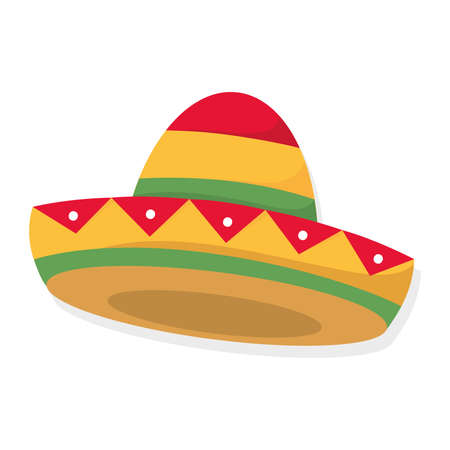 Isolated traditional mexican hat Mexican culture Vector illustration
