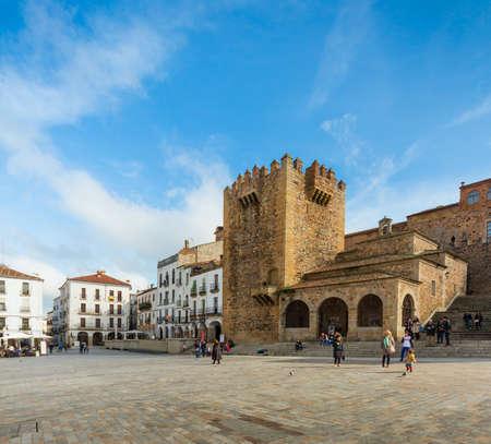 extremadura: Torre de Bujaco y Plaza Mayor de Cceres, Extremadura, Espaa
