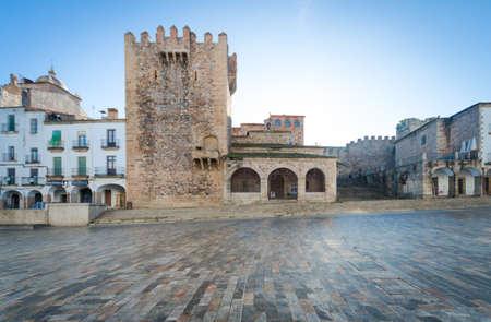 extremadura: Torre de Bujaco en Cceres, Extremadura, Espaa