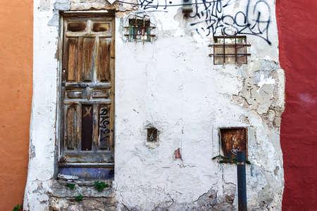 weathered: Grunge weathered facade