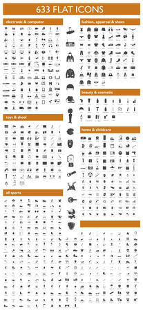 Complete set of icons