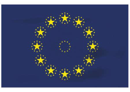 raise the white flag: A futuristic EU flag Illustration