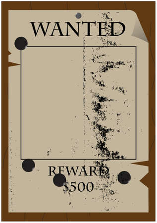 An old west style wanted poster