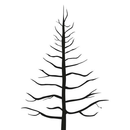 A grand old tree silhouette Illustration