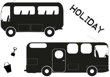 Holiday vehicles isolated on a white background Vector