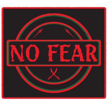 no fear: A  No Fear  rubber stamp design