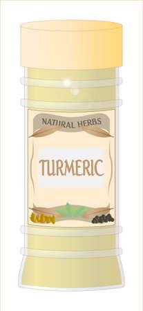 home grown: Turmeric Jar Illustration