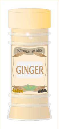 home grown: Ginger Jar Illustration