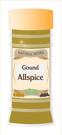 home grown: Ground Allspice Jar