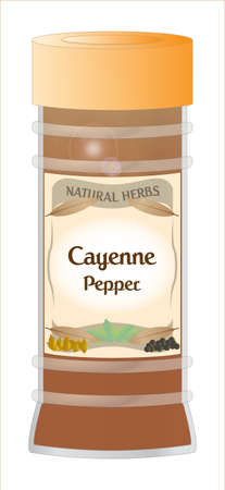 cayenne: Cayenne Pepper Jar Illustration