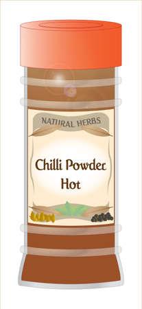 home grown: Chilli Powder Hot Jar Illustration