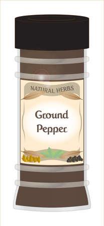 Gemalen peper Jar