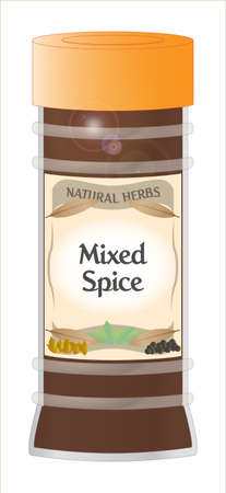 home grown: Mixed Spice Jar Illustration