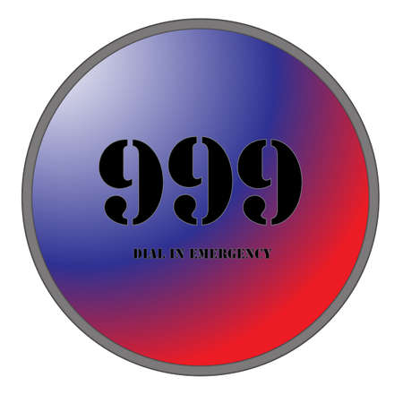 999 Button Vector