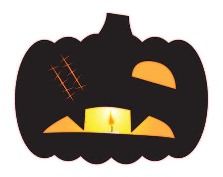 one eyed: Halloween One Eyed Jack O Lantern Illustration