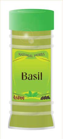 basil herb: Hierba de la albahaca Jar