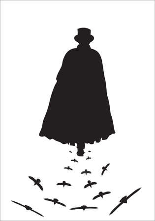 Jack The Ripper Walking With Crows