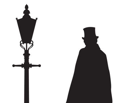 Jack The Ripper With Street Light Silhouette