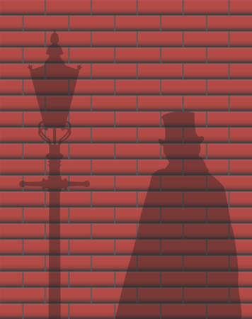 Jack The Ripper Brick Wall Shadow
