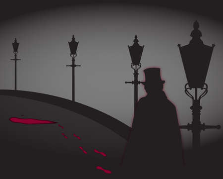Jack The Ripper On The Street Vector