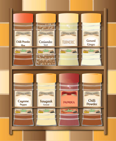 coriander: Spicy Spice Rack