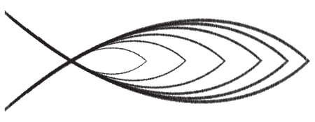 pez cristiano: Capas Dise�o cristiano de los pescados aislado en un fondo blanco