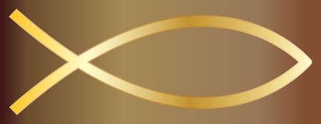 Een gouden vis christelijk ontwerp