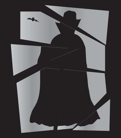 Dracula Broken Mirror Illustration