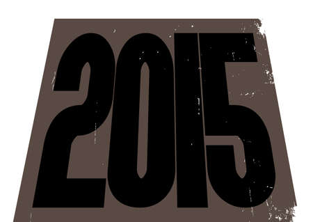 january 1st: A 2015 structure design isolated on a white background