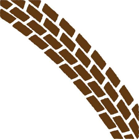 tire imprint: Brown Treadmark Arch