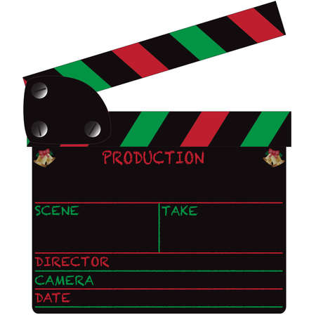 hollywood christmas: Christmas Clapper Board Blank Illustration