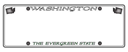 license plate: A Washington license plate isolated on a white background