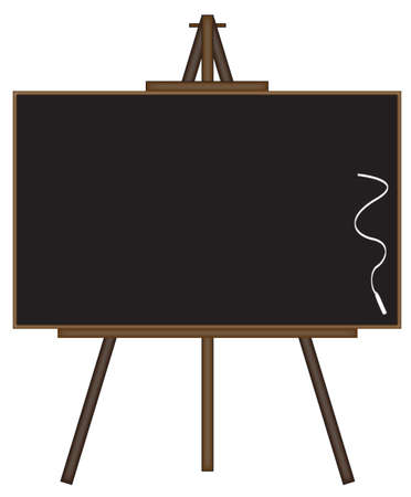 filling material: Blackboard on easel isolated  on a white background