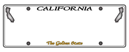 license plate: A California license plate isolated on a white background